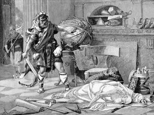 The Death of Archimedes at the Capture of Syracuse by the Romans, 212 BC