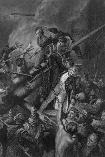 The Death of Captain Faulknor, 1795-J Rogers-Giclee Print
