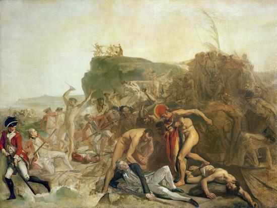 The Death of Captain James Cook, 14th February 1779-Johann Zoffany-Giclee Print