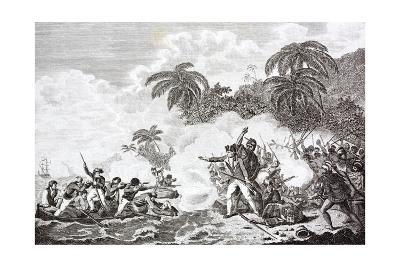 The Death of Captain James Cook, 1728 - 1779--Giclee Print