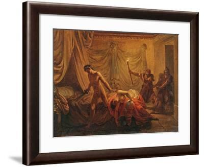 The Death of Cleonice-Jacques-Louis David-Framed Giclee Print