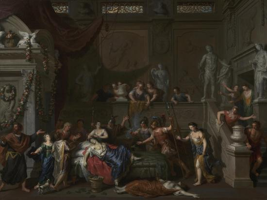 The Death of Cleopatra, c.1700-10-Gerard Hoet-Giclee Print