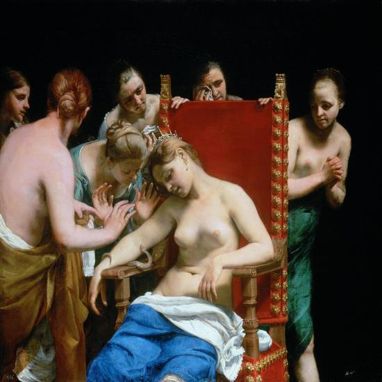The Death of Cleopatra, Ca 1662-Guido Canlassi-Giclee Print