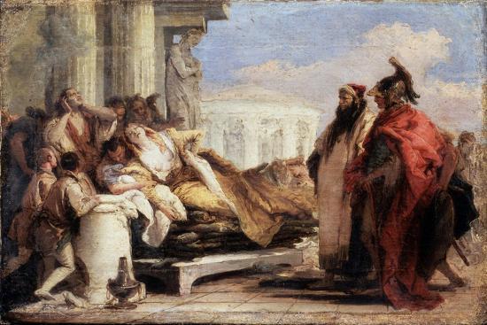 The Death of Dido, 1757-1760-Giovanni Battista Tiepolo-Giclee Print