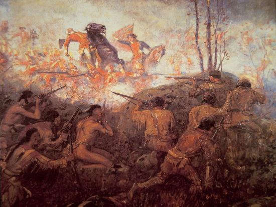The Death of General Braddock Near Fort Duquesne-English-Giclee Print