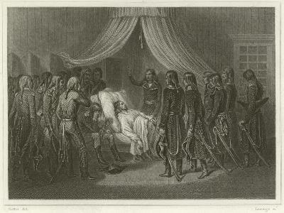 The Death of General Hoche-Denis Auguste Marie Raffet-Giclee Print