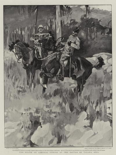 The Death of General Symons at the Battle of Talana Hill-Frank Craig-Giclee Print