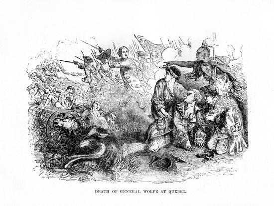 The Death of General Wolfe at Quebec, 1759--Giclee Print