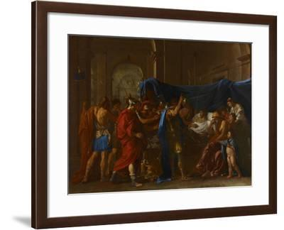 The Death of Germanicus, 1627-Nicolas Poussin-Framed Giclee Print