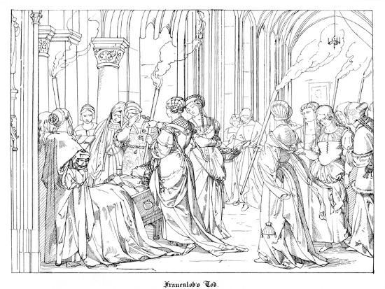 The Death of Henry of Meissen, Named Frauenlob-Alfred Rethel-Giclee Print