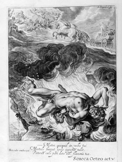 The Death of Hercules, 1655-Michel de Marolles-Giclee Print