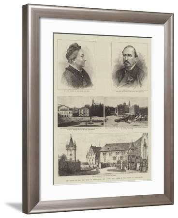 The Death of Hh the Duke of Saxe-Coburg and Gotha, Kg, Views in the Duchy of Saxe-Coburg-Henry William Brewer-Framed Giclee Print