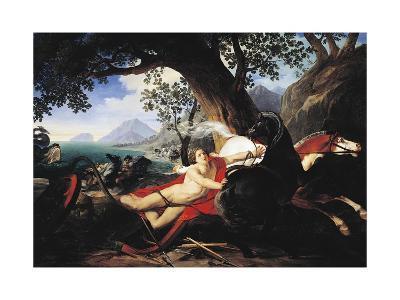 The Death of Hippolytus, 1829-Giovan Battista Airaghi-Giclee Print