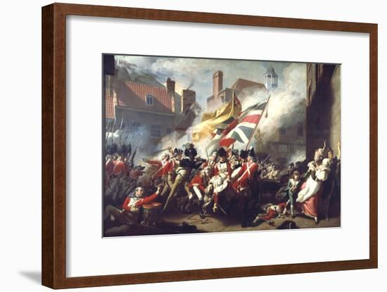 The Death of Major Peirson, 6 January 1781, 1783-John Singleton Copley-Framed Giclee Print