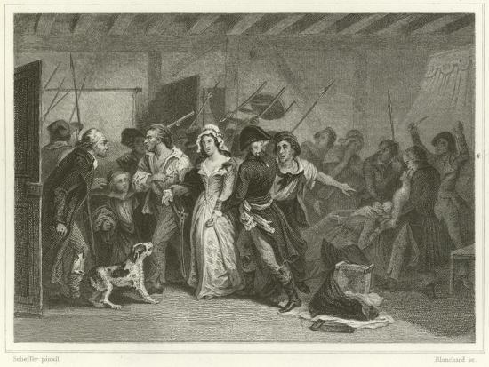 The Death of Marat-Ary Scheffer-Giclee Print