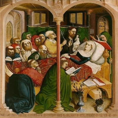 The Death of Mary. the Wings of the Wurzach Altar, 1437-Hans Multscher-Giclee Print
