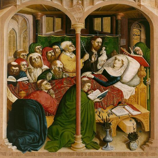 the death of mary the wings of the wurzach altar 1437 giclee print
