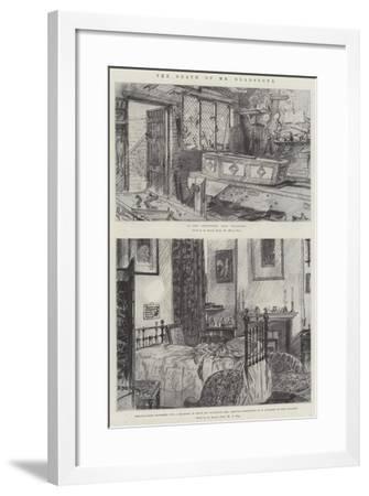 The Death of Mr Gladstone-Melton Prior-Framed Giclee Print