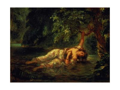 The Death of Ophelia, 1844-Eugene Delacroix-Giclee Print