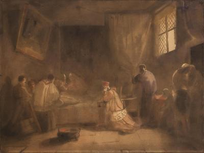 The Death of Poussin-Francois-Marius Granet-Giclee Print