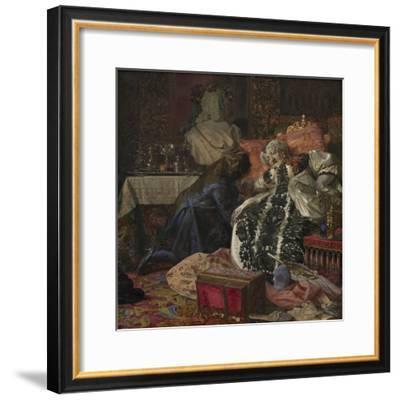 The Death of Queen Sophie Amalie, 1882-Kristian Zahrtmann-Framed Giclee Print