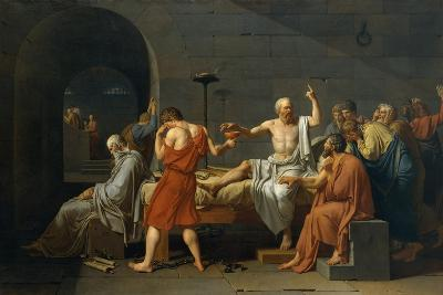 The Death of Socrates, 1787-Jacques Louis David-Giclee Print