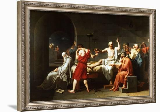 The Death of Socrates, c.1787-Jacques-Louis David-Framed Art Print