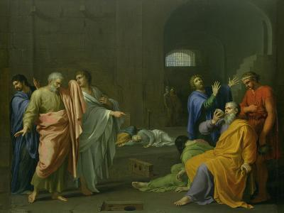 The Death of Socrates-Charles Alphonse Dufresnoy-Giclee Print