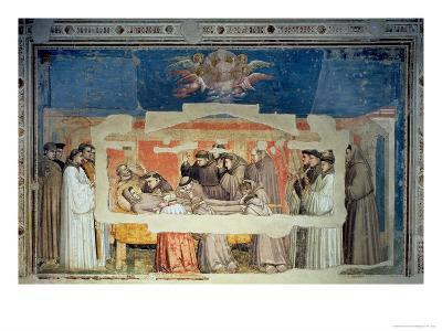 The Death of St. Francis, from the Bardi Chapel-Giotto di Bondone-Giclee Print