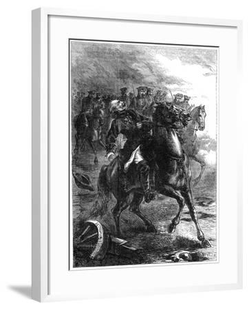 The Death of the Duke of Berwick at the Siege of Philippsburg, Germany, 1734--Framed Giclee Print