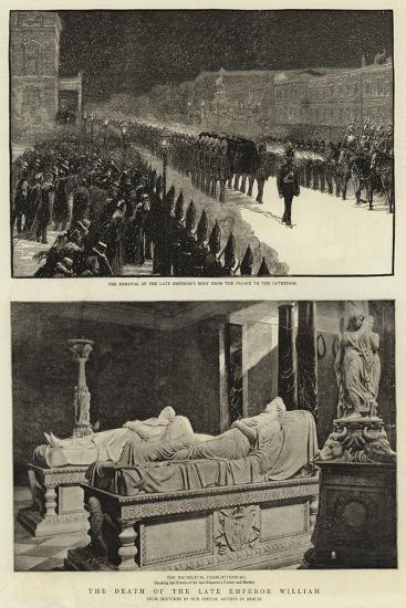 The Death of the Late Emperor William--Giclee Print