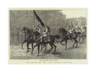 The Death of the Late German Emperor--Giclee Print