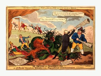 The Death of the Property Tax! or 37 Mortal Wounds for Ministers and the Inquisitoral Commissioners--Giclee Print