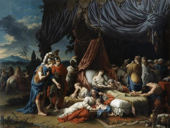 The Death of the Woman of Darius, 1785-Louis Jean Francois Lagrenee-Giclee Print