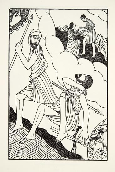 The Death of Troilus, 1927-Eric Gill-Giclee Print