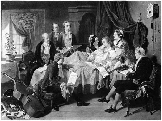 The Deathbed of Mozart, 1791--Giclee Print