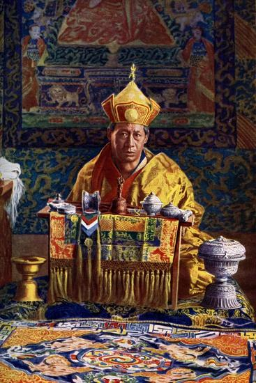 The Deb Raja, Acting Head of the Buddhist Church of Bhutan, 1922-John Claude White-Giclee Print
