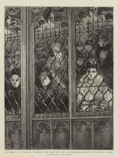 The Debate in the House of Commons on the Home Rule Bill-Charles Paul Renouard-Giclee Print