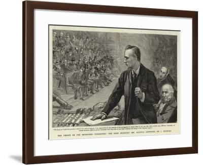 The Debate on the Imprisoned Dynamiters, the Home Secretary (Mr Asquith) Answering Mr J Redmond-Sydney Prior Hall-Framed Giclee Print