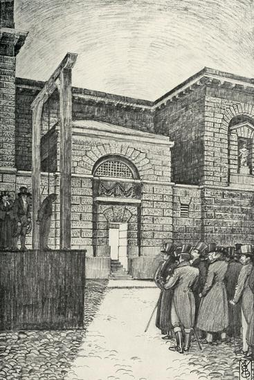 'The Debtor's Door, Newgate Prison, London, in 1821', (1938)-Unknown-Giclee Print