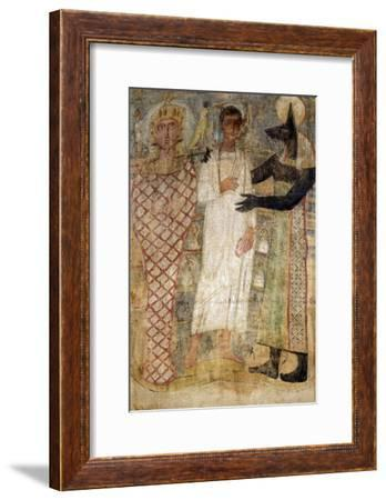 The Deceased and His Mummy Protected by Anubis--Framed Giclee Print