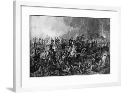 The Decisive Charge of the Life Guards at the Battle of Waterloo, 1815-WM Bromley-Framed Giclee Print