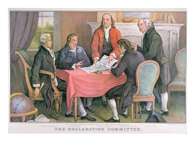 The Declaration Committee, Published by Currier and Ives, New York--Giclee Print