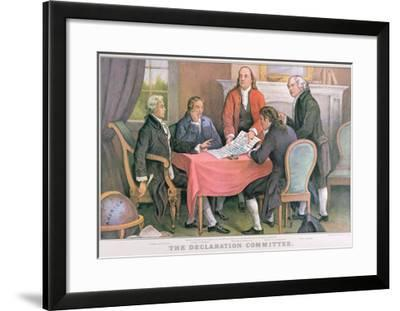 The Declaration Committee, Published by Currier and Ives, New York--Framed Giclee Print