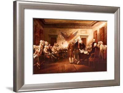 The Declaration of Independence-John Trumbull-Framed Art Print