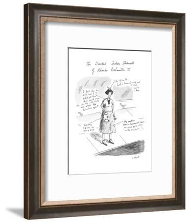 The Decoded Fashion Statements of Rhonda Perlmutter III - New Yorker Cartoon-Roz Chast-Framed Premium Giclee Print