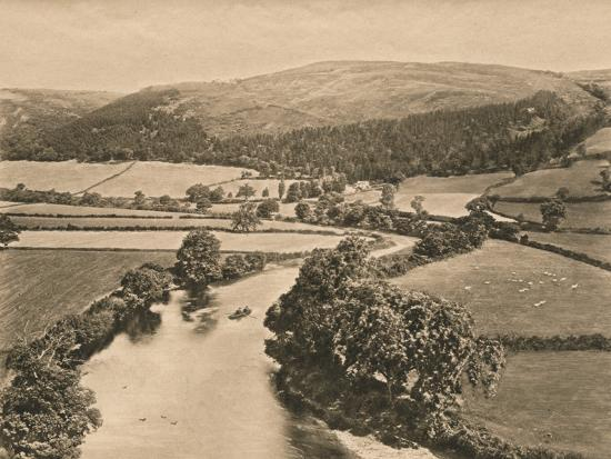 'The Dee Valley, from Glendower's Mound', 1902-Unknown-Photographic Print