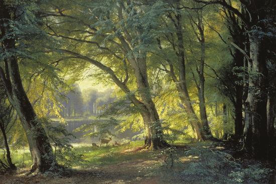 The Deer Park-Carl Frederic Aagaard-Giclee Print