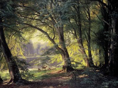 The Deer Park-Carl Frederic Aagaard-Premium Giclee Print