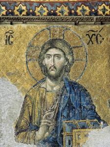 The Deesis. Detail. Jesus Christ in Majesty as If to Bless. Hagia Sophia. Istanbul. Turkey